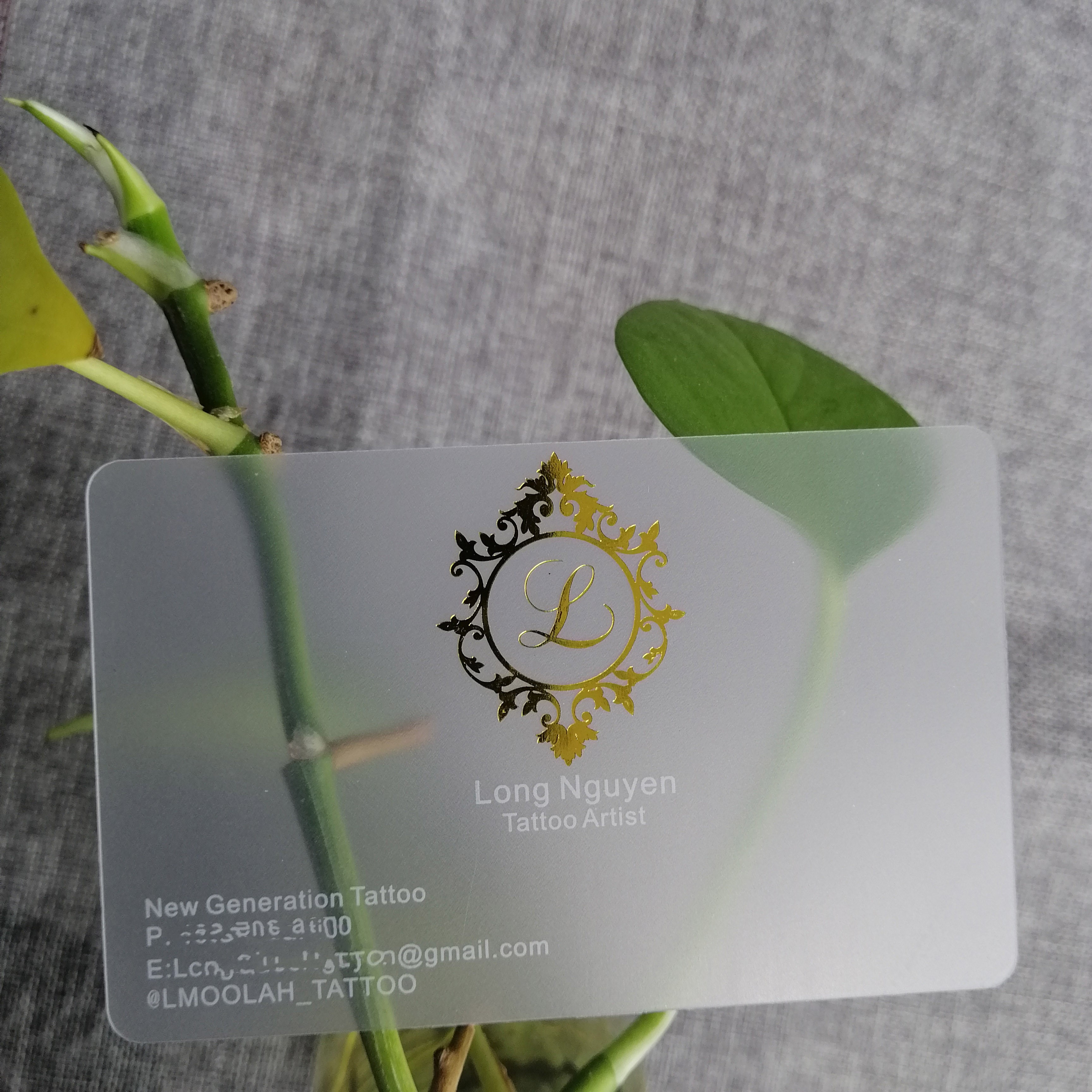 High Quality Pvc Wholesale Clear transparent Plastic Business Vip Card