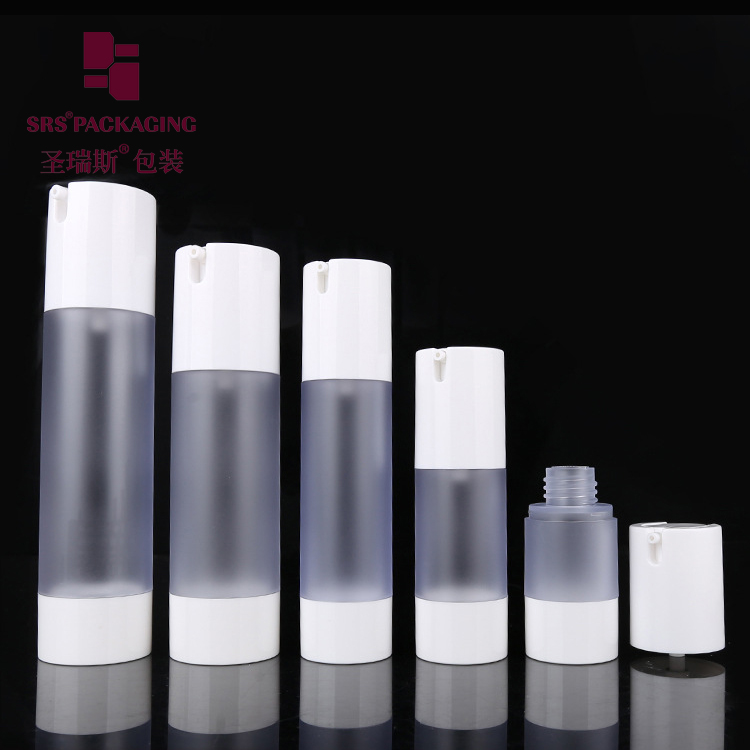 SRS Packaging Gold Color Ta021 15ml 30ml 50ml AS Cosmetic Airless Bottle With Pump
