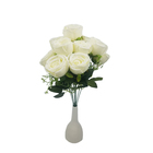 Burgundy decorative flowers wedding table centerpiece rose artificial flowers