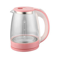 home hot water glass electric tea kettle pink color