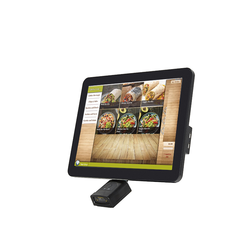 15 inch windows system pos  touch screen price checker with 2D scanner and camera