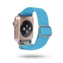 Эластичный ремешок для Apple Watch 38, 40, 42, 44 мм, нейлоновая петля для iwatch 5/4/3 2, женский ремешок для часов(Китай)