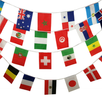 Wholesale custom 20*28cm Polyester flags all countries string flag