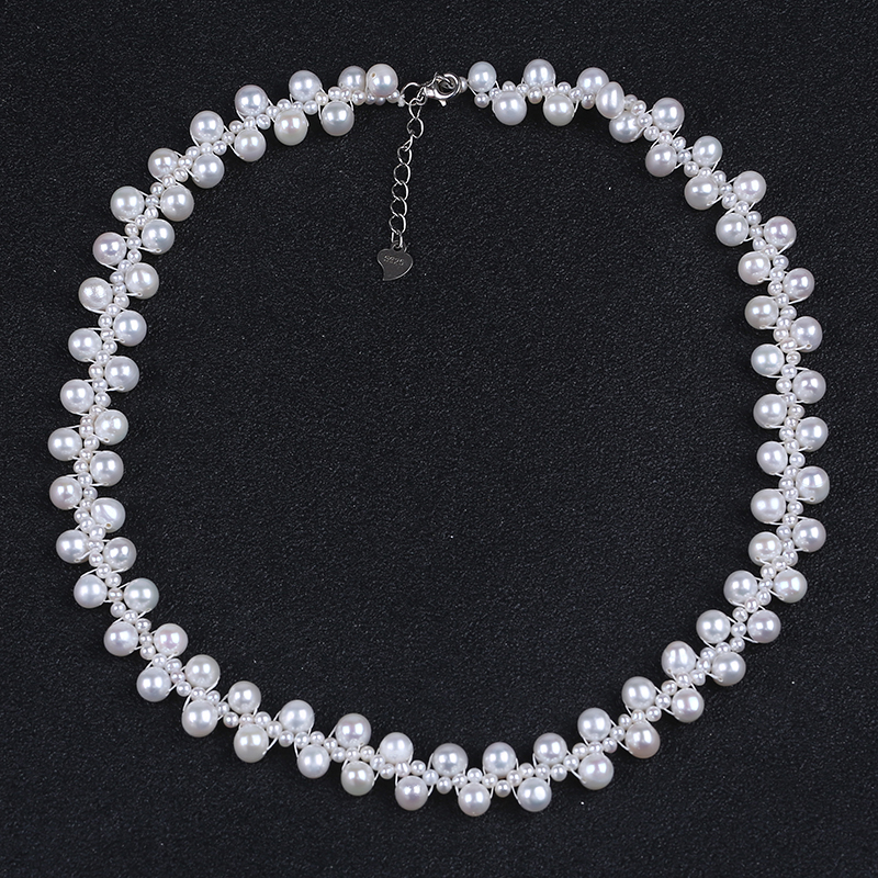 5-6mm potato pearl choker necklace jewelry