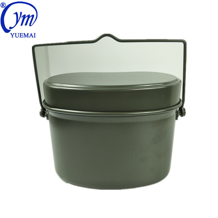 New Design Custom German Aluminum Outdoor Army Green Olive Outdoor Camping Police Military Canteen Lunch Box Kit Mess Tin Set