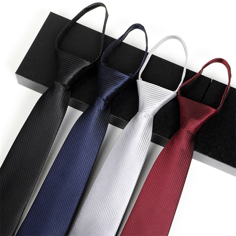 Newest 100% Polyester Handmade Zipper Tie For Men