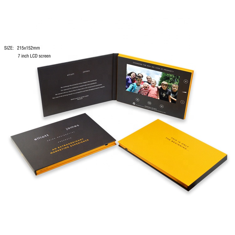 Promotional advertising video brochure lcd video gift cards digital tft screen invitation lcd video greeting card for marketing