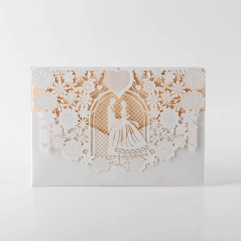 カード招待状結婚式のカードでインドアクリル