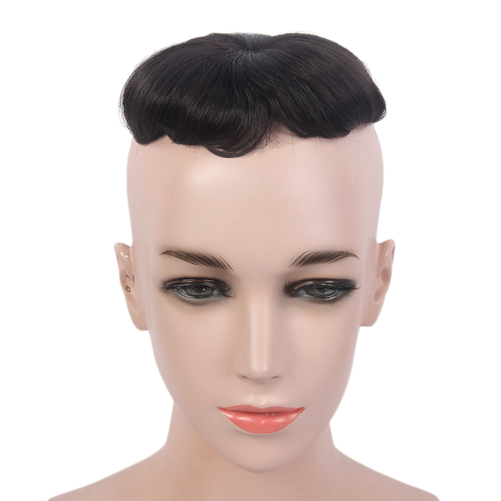 Kid Wigs Long Synthetic Black  Hair Toupee Wig  For Kids