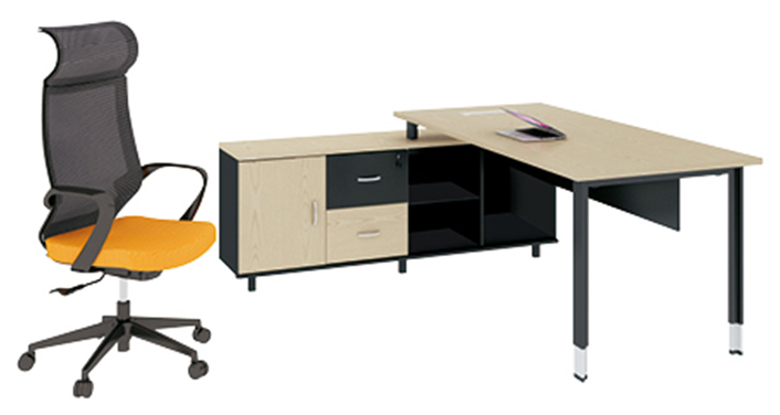 L Shape Desk Office Executive Modern MDF CEO Office Desk Furniture Workstation Table
