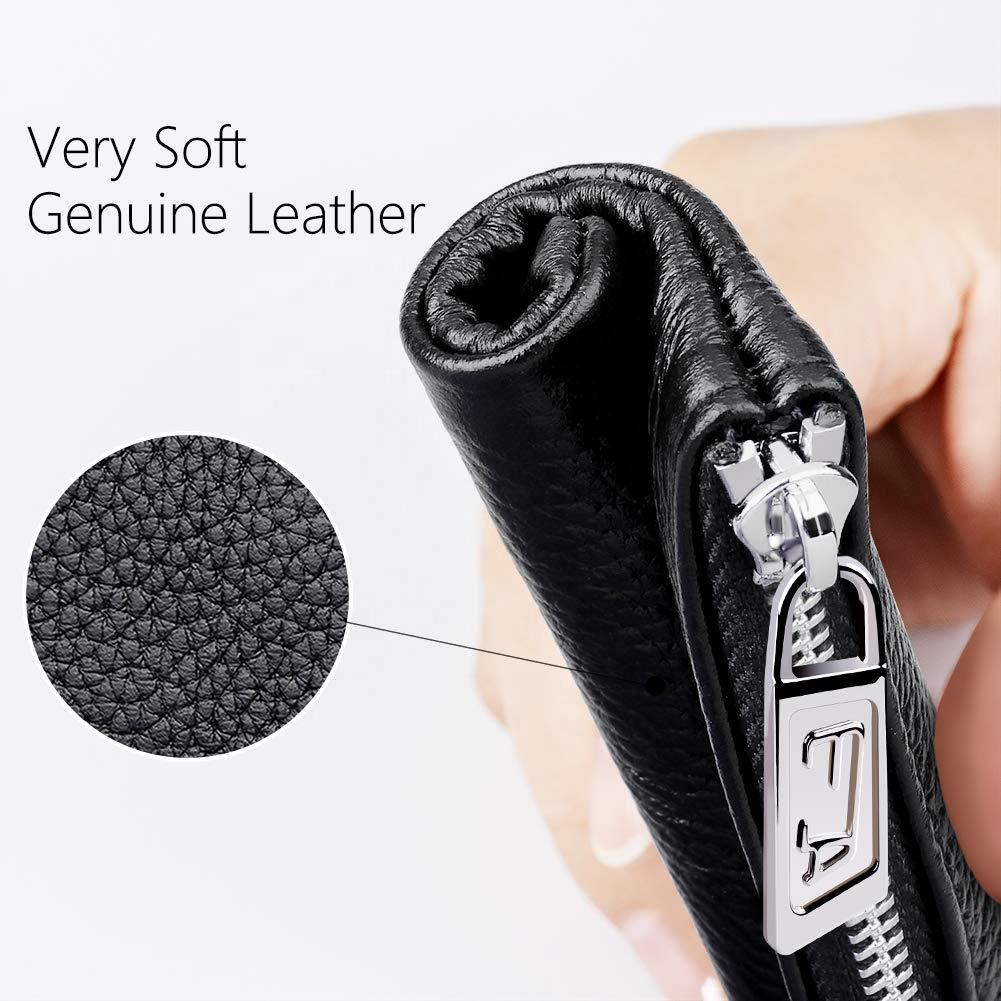 Genuine Leather Coin Purse Mini Size Change Purse Soft RFID Credit Card Holder Leather Coin Pouch Wallet With Zipper