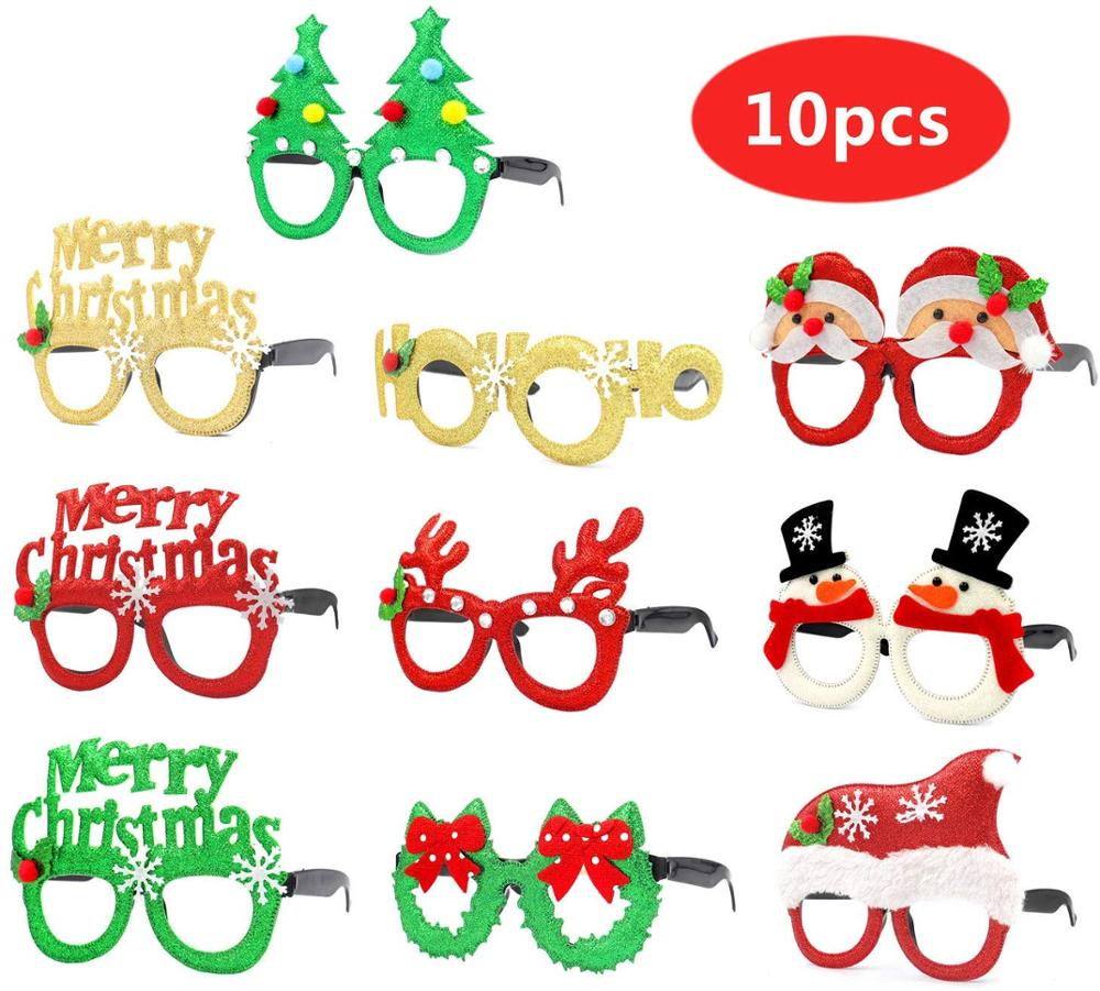 Christmas Glasses Fancy Eyeglasses Frames Creative Funny Eyewear Xmas Photo Booth Props Happy New Year Celebration