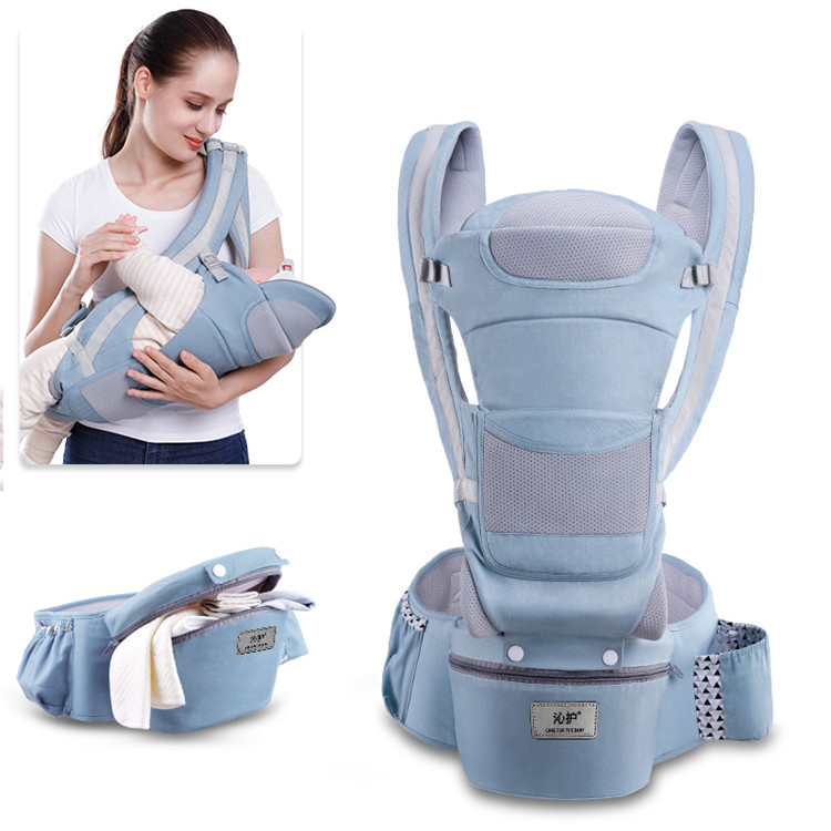 2020 best organic cotton baby carrier with Lumbar Support hipseat baby front pack carrier