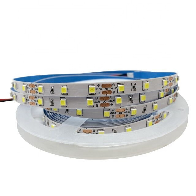 factory sale smd 4040 60leds/m flexible  led strip lights 12v 8mm double pcb ip20 non-waterproof white color