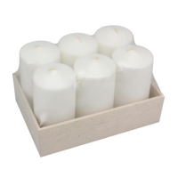 Colored No Smoke No Tears Pillar White Candles Wholesale Wedding Decoration