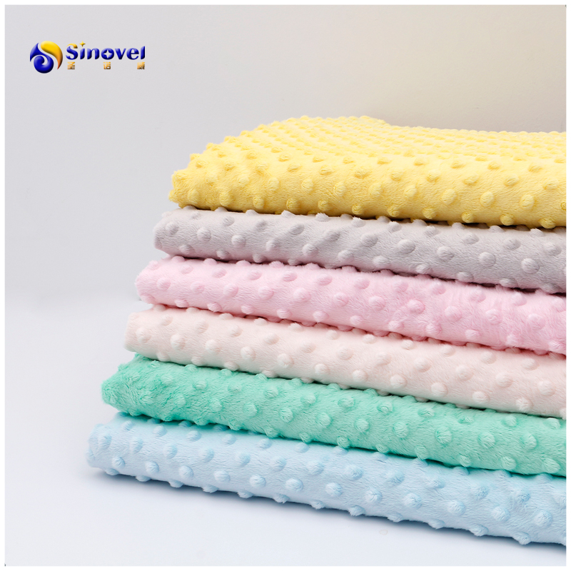 100% polyester wholesale super soft minky dot fabric for home textile/toy