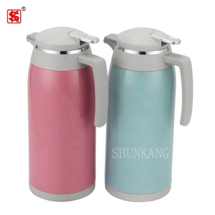Glass liner Vacuum Jug colorful Stainless Steel thermos coffee pot with handle