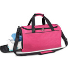 Custom Logo Sport Small Pink Gym Bag for Women with Wet Pocket