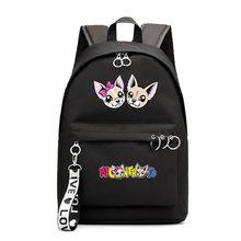 Детский модный большой рюкзак для мальчиков и девочек с мультипликационным принтом, двойной Железный рюкзак с пряжкой, Студенческая сумка, ...(Китай)