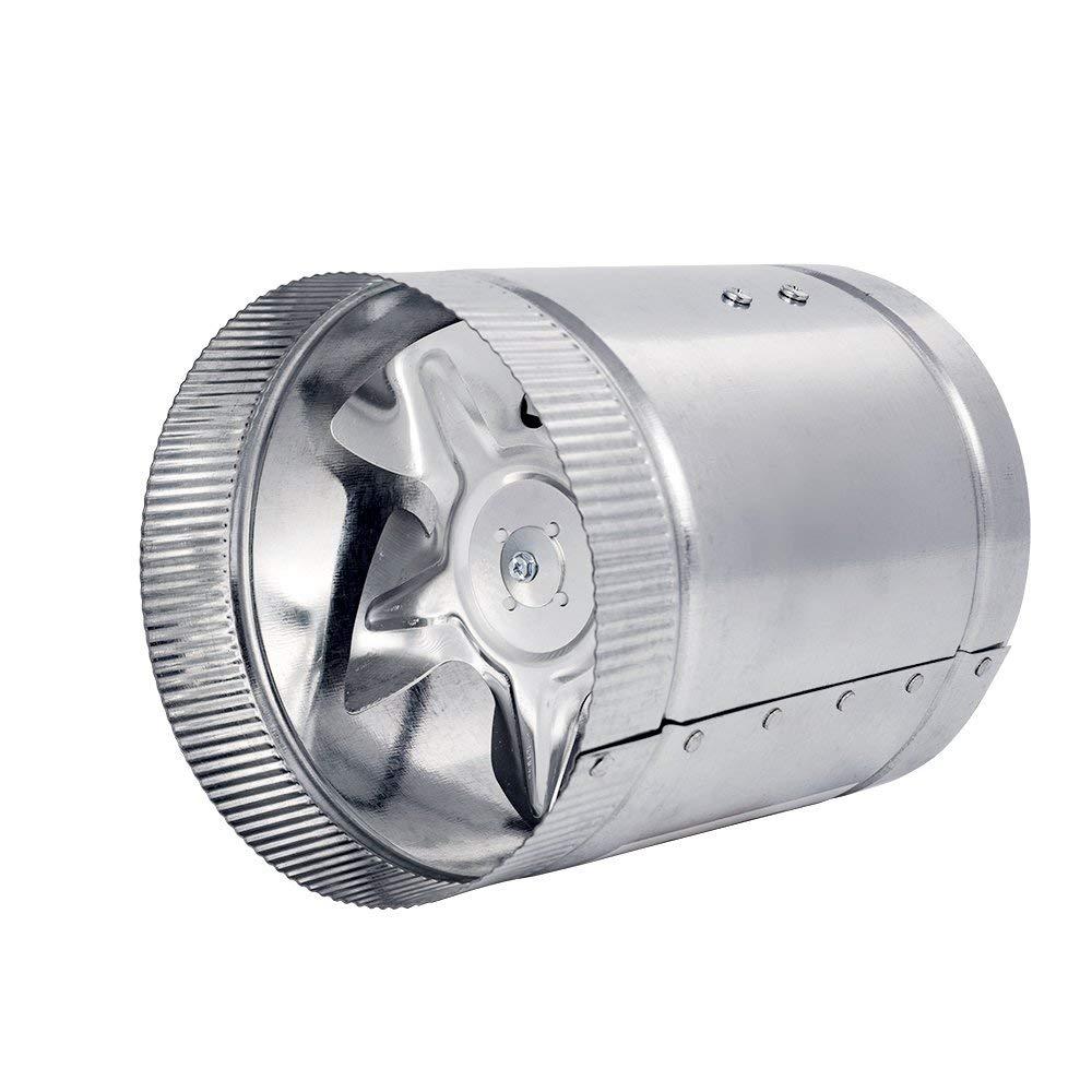 温室インラインダクトブースター排気ダクトファンアルミブレード換気送風機