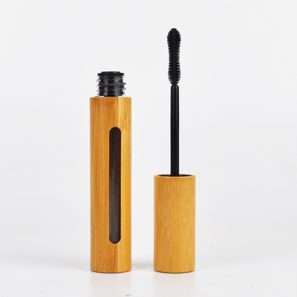 Eco-friendly 6ml di plastica interno di bambù vuota tubo di mascara con la spazzola