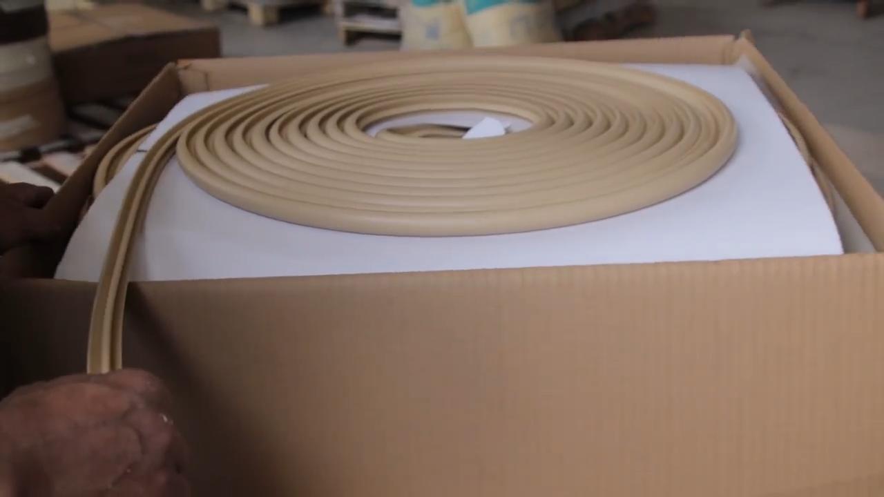 Borda de madeira da grão guarnição da borda da fita de borda a borda de plástico flexível tira de forma t