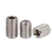 DIN916 Inner Hex Socket Set Screws With Cup Point 304 Stainless Steel OEM Stock Support