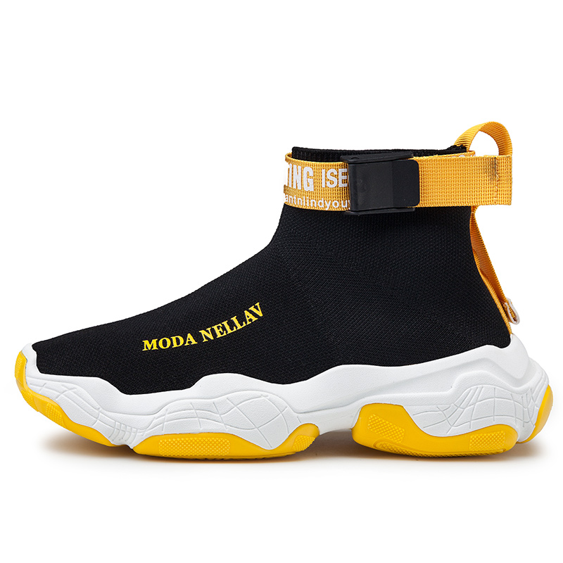 Custom Brand Breathable High Heel Knit Platform Men Seneakrs Shoes,Designer Fashion Shoes Men Sneakers