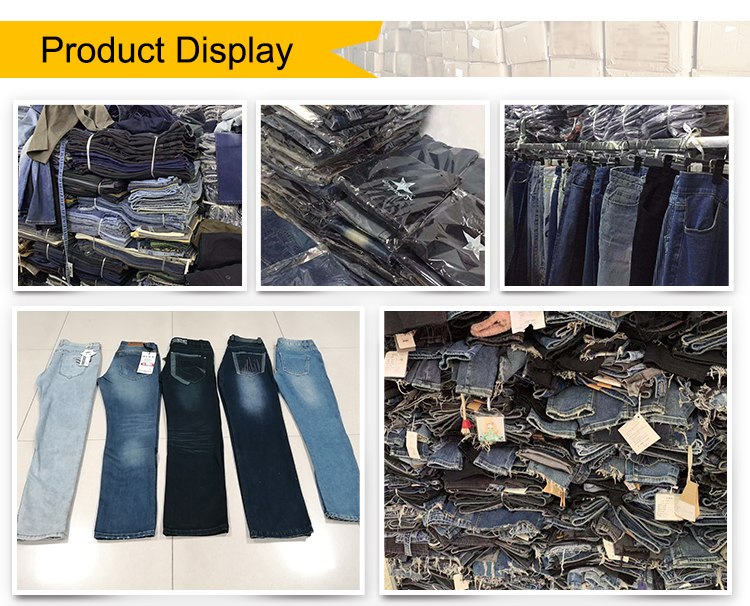 In stock High Quality Wholesale blue Casual Men Denim Tight Jeans Straight Cut for Men