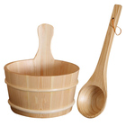 Dry steam room sauna room accessories wooden sauna bucket
