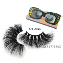 Nova venda quente super longo 25mm mink cílios lashes cruelty free 100% real 3d