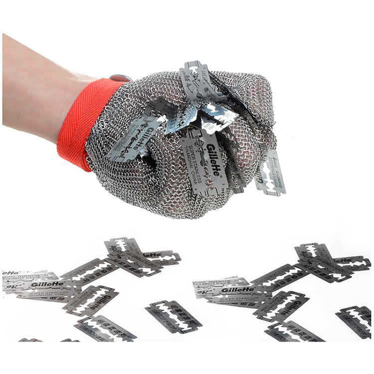 High Quality Level 9 Stainless Steel Wire Mesh <strong>Gloves</strong> Metal Butcher Meat Chainmail <strong>Glove</strong> Cutting Work Safety <strong>Gloves</strong>