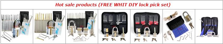 Buka Pintu 12Pcs Lock Pick Set Alat Tukang Kunci Tukang Kunci Supplies Single Hook Kunci-t dengan 1 Transparan Praktek Gembok