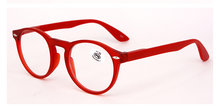 Модные круглые очки в оправе Женские Ретро Красные Синие черные очки для чтения мужские винтажные ультралегкие очки для дальнозоркости с д...(Китай)