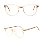 Eyeglasses G3002 Retro Optical Round Clear Transparent Acetate Frame Eyeglasses