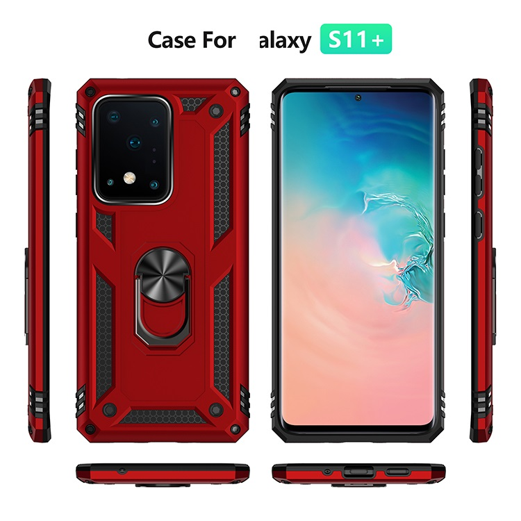 Shockproof Ring Holder TPU PC Armor Phone Back Cover Case For Samsung For Galaxy J4 J6 J8 Plus Prime 2018 A6 A7 A8 A9 A10E A20E