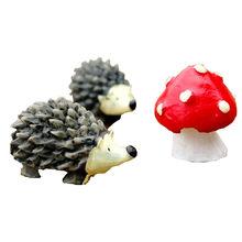 Миниатюрный орнамент Ежик гриб набор Настольный Декор Сказочный Сад горячий мини-Ежик гриб набор аквариум украшения для дома(Китай)