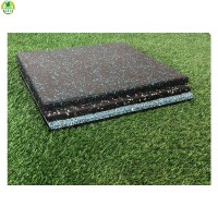 China factory cheap 1.5/2.0/2.5/3.0/4.0/5.0cm thick waterproof safety playground tiles mats outdoor gym rubber flooring