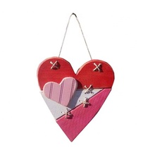 <span class=keywords><strong>Valentinstag</strong></span> Holz Rot Hängen Herz Tür hause wand dekoration Valentine Geschenk Valentine Herz Dekoration