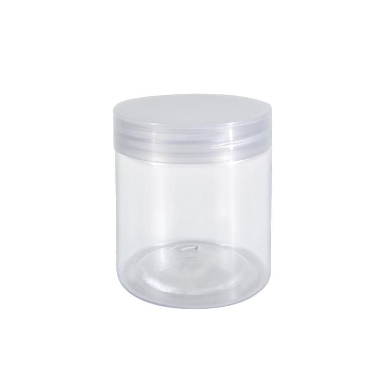 Factory Direct Sale 2oz 3oz 4oz 5oz 8oz 500ml 1000ml Food Honey Cookie Food Jar With Lid Clear PET Spice Plastic Jar