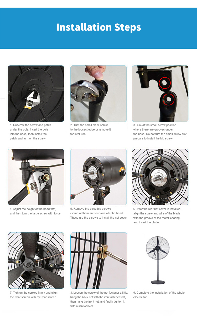 Mechanical Oscillating Misting Industrial Spray Commercial High-Velocity Outdoor Indoor Mist Fan Industrial Cool Standing Fan