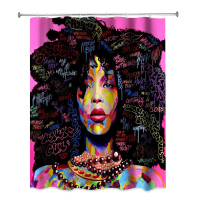 African American luxury hotel home decor African girl black women bathroom shower curtain