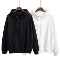 wholesale urban pullover blank plain slim men solid polyester hooded sweatshirt hoodies for thick