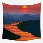 sun forest mountains wall tapestry forest 2020 wall decor