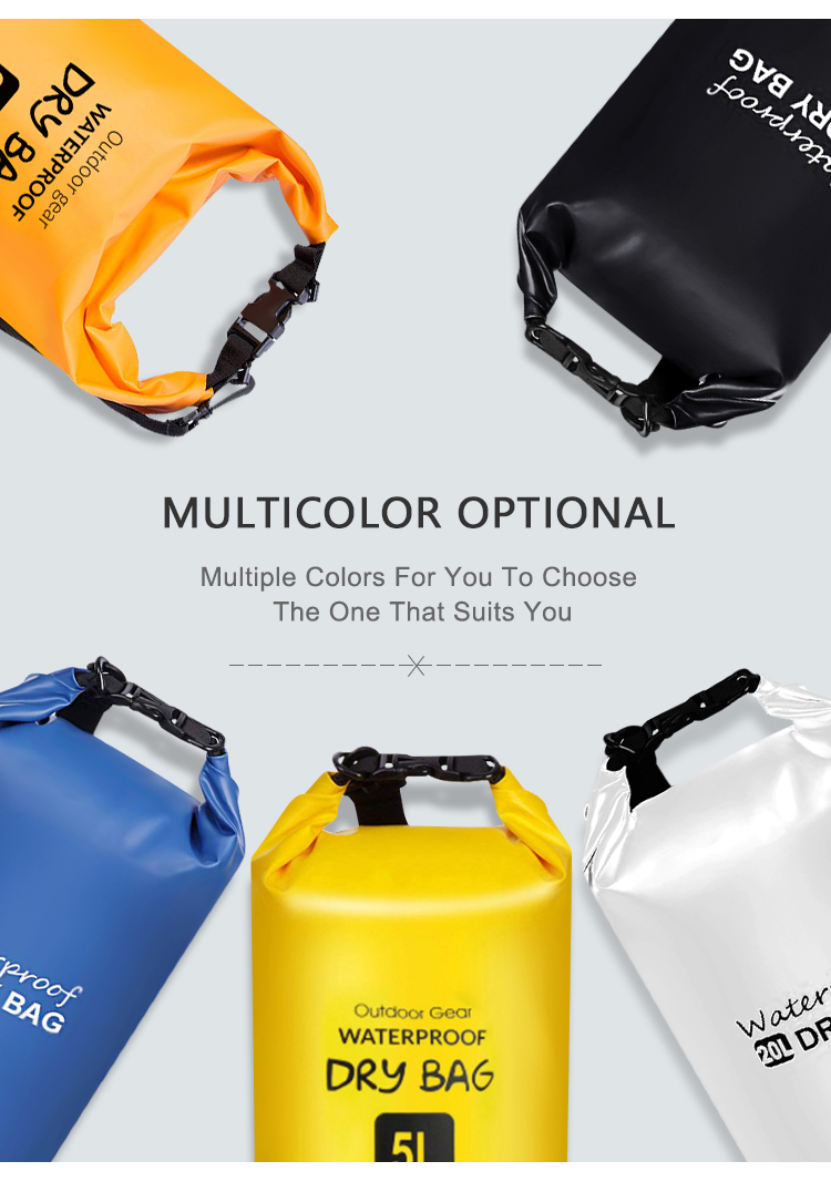 Customized High Quality Tarpaulin Pvc Backpack Waterproof Dry Bag Beach
