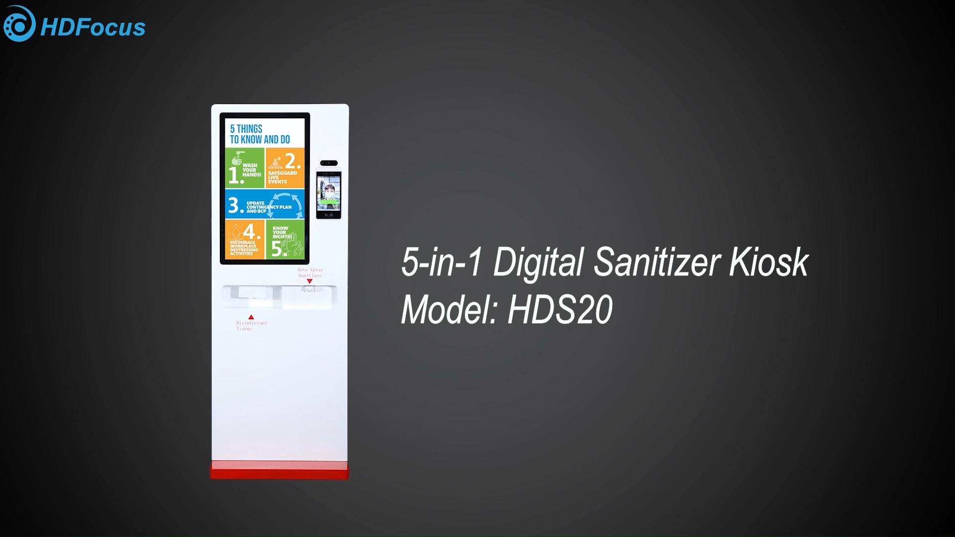 HDFocus автоматический ручной дезинфицирующий диспенсер цифровой Signage киоск
