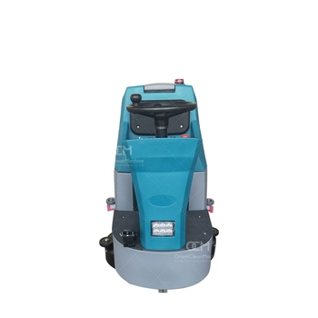 V80 Mini Driving Type Scrubber Machine Ride On Cleaning Machine Dual Brush Floor Scrubber