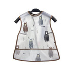 PEVA waterproof large size sleeveless funny adult kids bibs children eating clothes baby smock bib