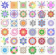 Hot Sale Paket 36 Mandala Dot Lukisan Template <span class=keywords><strong>Stensil</strong></span> TOYS0196