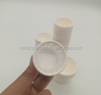 sigle wall paper cup for medicine or pill